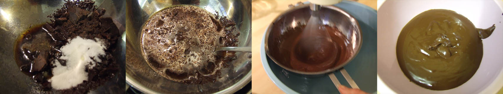 step by step dark chocolate icing mousse