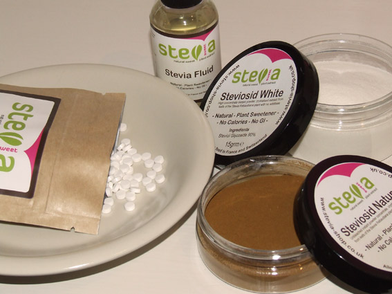 various forms of Stevia-sweet products
