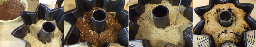 marble cake step by step