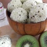 summer kiwi fruit coconut truffel recipe sweetened with stevia