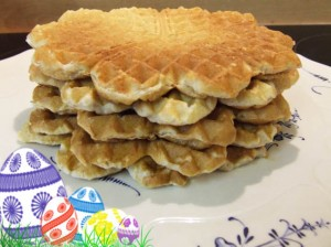 low calorie easter waffles