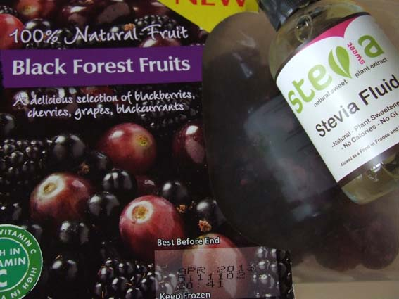berry sorbet ingredients berries and stevia