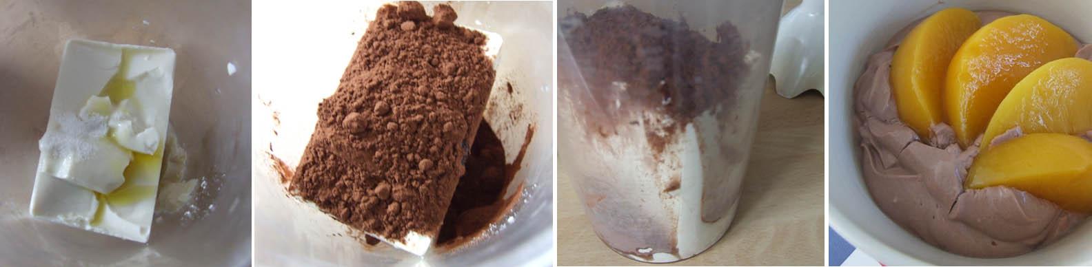 Silky chocolate orange tofu dessert with Stevia