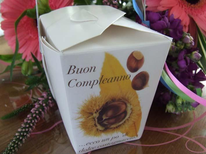 gluten free Castagnaccio chestnut flour cup cake present box