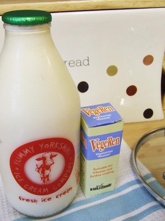 Junket raw milk rennet ingredients