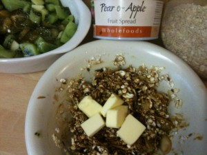Sugar free oat crumble ingredients overview
