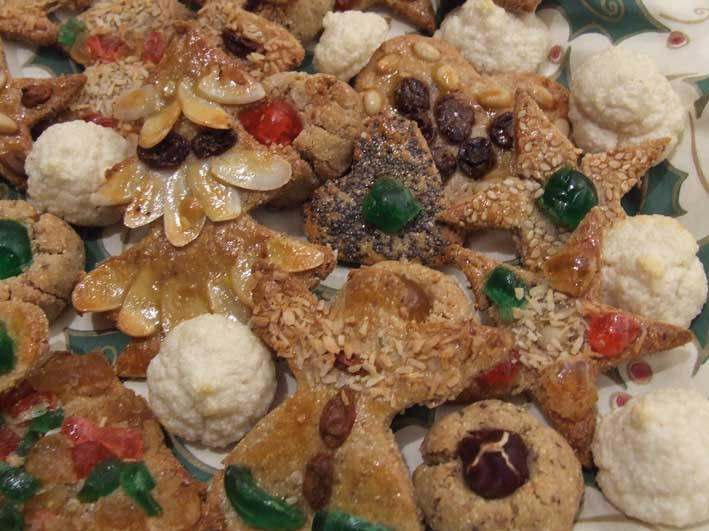 recipe for Christmas Paleo Sour Cream Cookies with stevia, sugar and gluten free