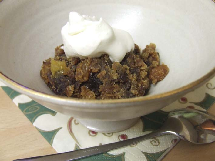 No added sugar, gluten free Traditional British Christmas Pudding for ONE with Stevia