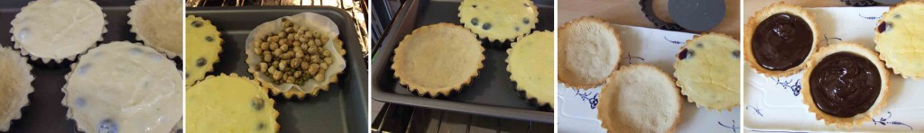 Gluten and sugar free Blueberry tart base pastry mixing - with stevia