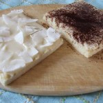 Gluten, sugar, dairy free Biscuit Sponge base slices with Coconut Manna