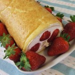 Strawberry Roulade Sponge with Cream – Gluten, Starch and Sugar FREE – sweetened with Stevia