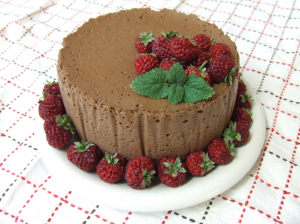 Chocolate Mouse Gateaux, light and moist sweetened with Stevia