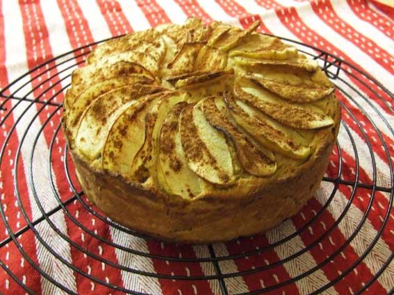 Paleo apple sauce cake sweetened with Stevia
