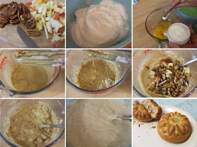 STEP by STEP Quick apple cinnamon pecan muffins - paleo treat