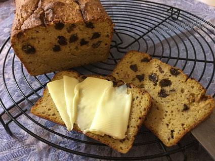 Paleo butternut squash raisin loaf – sugar free, gluten free