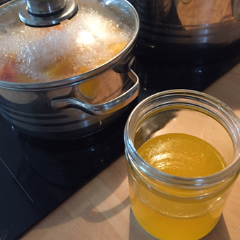 Cooking-butternut-squash-home-made-ghee
