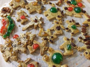 more gluten free Christmas Paleo Sour Cream Cookies with stevia on wire rack